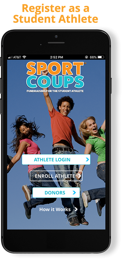 SportCoups fundraising app for sports teams